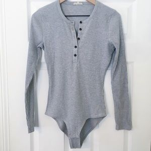 Madewell long sleeve henley bodysuit